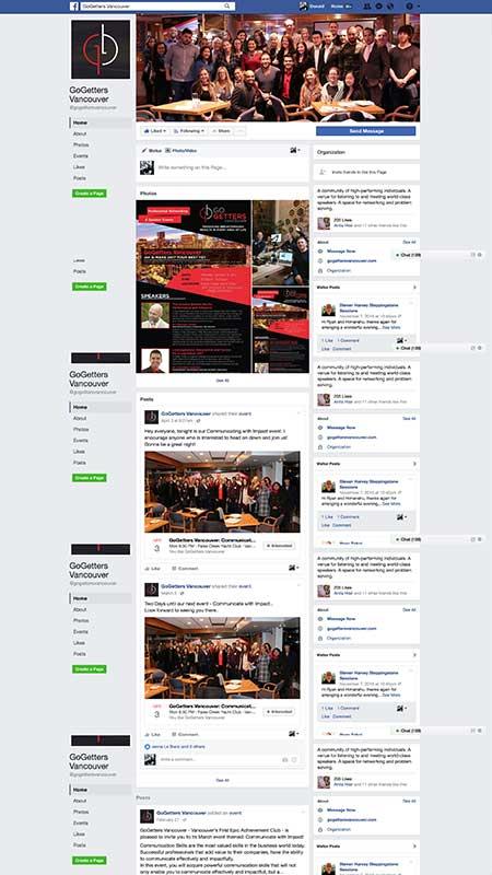 gogettersvancouver, optimizedwebmedia, client, socialmedia, facebook