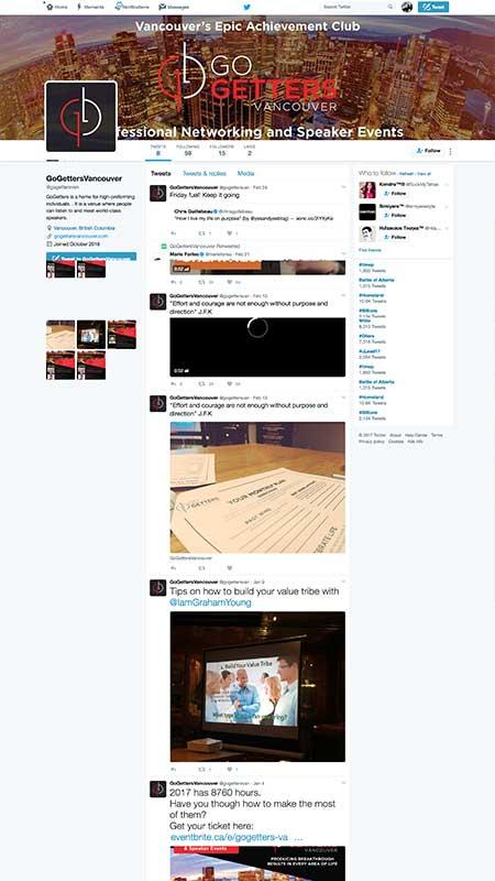gogettersvancouver, optimizedwebmedia, client, socialmedia, twitter
