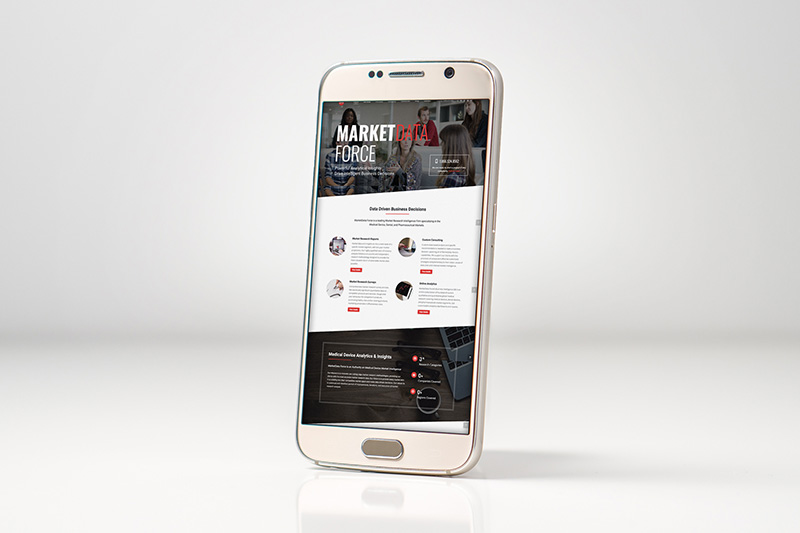 marketdataforce, optimizedwebmedia, client, mobile mockup