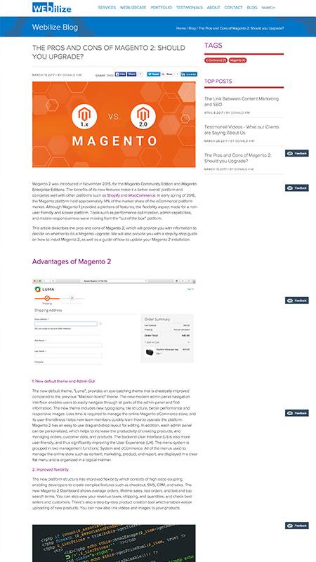 webi, optimizedwebmedia, client, content, blog, screenshot 4