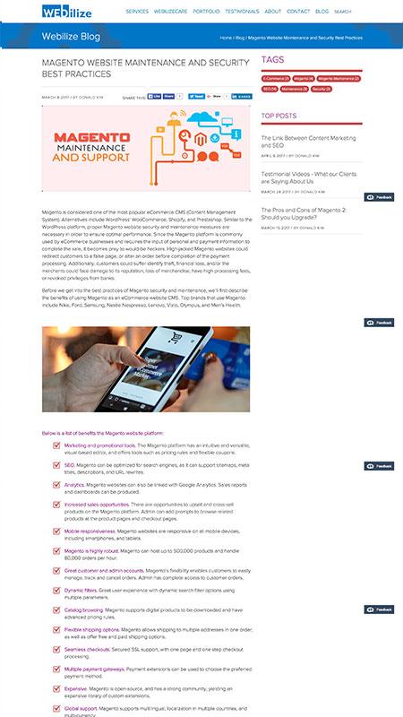 webi, optimizedwebmedia, client, content, blog, screenshot 5