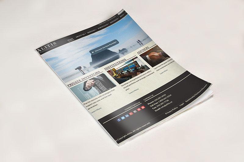 alitis investments, optimizedwebmedia, client, website content 2