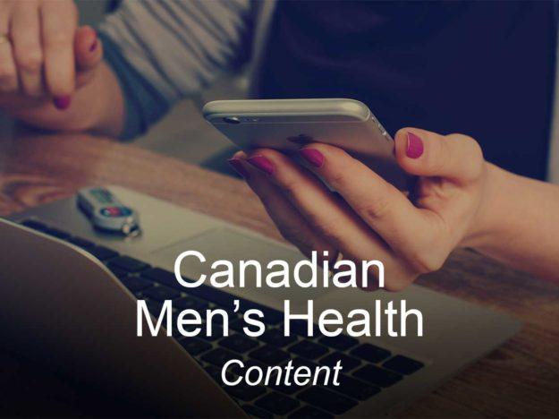 canadian mens health, optimizedwebmedia, clients, content