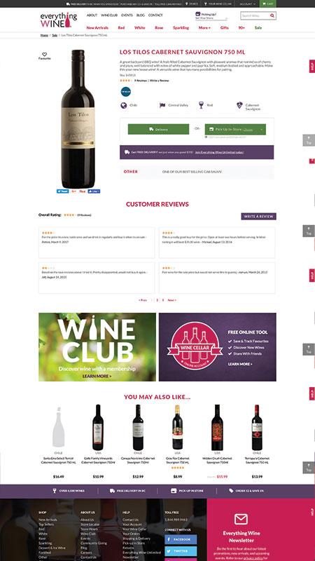 everythingwine, optimizedwebmedia client, website, magento, 6