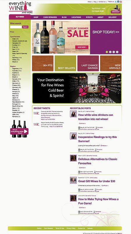 everythingwineandmore, optimizedwebmedia client, website, vin65, 1
