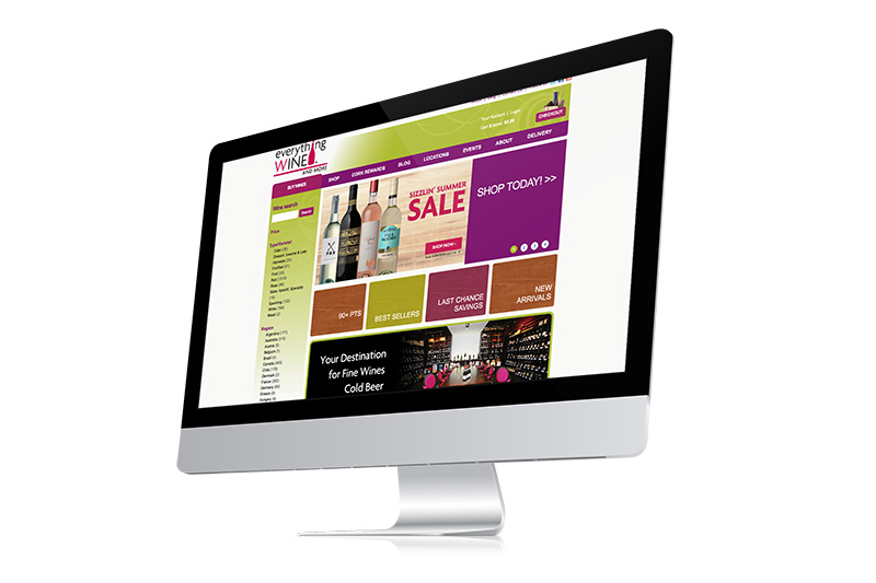 everythingwineandmore, optimizedwebmedia, client, website