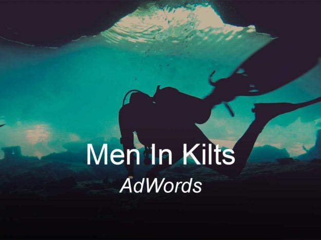 men in kilts, optimizedwebmedia, clients, adwords