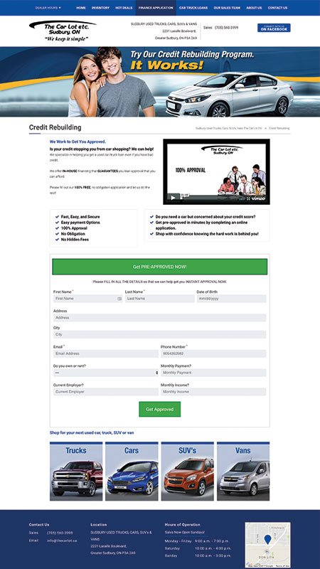 thecarlotetc, optimizedwebmedia client, website, wordpress, 2