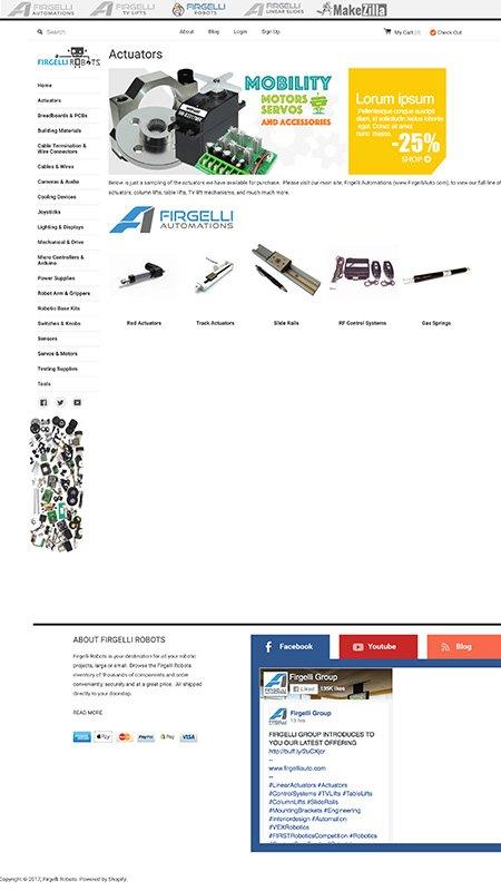 firgelli robots, optimizedwebmedia, client, website, shopify 2