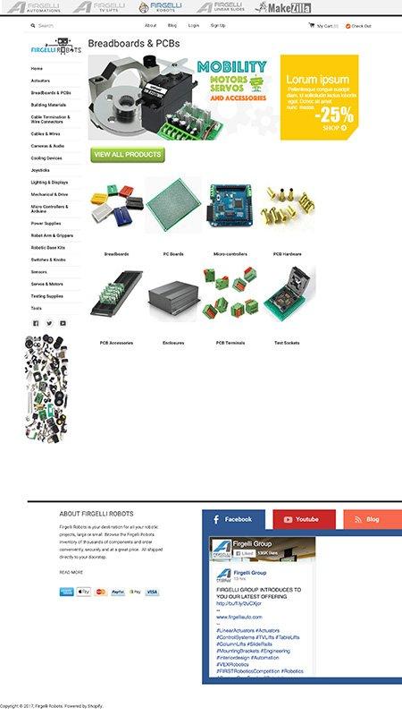 firgelli robots, optimizedwebmedia, client, website, shopify 3