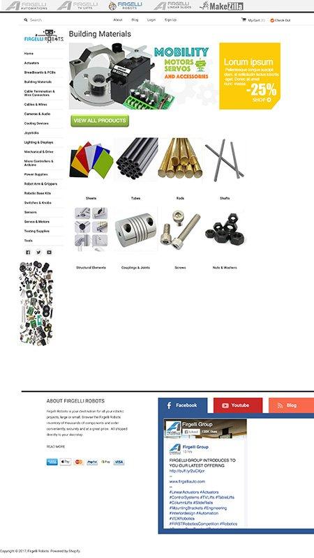 firgelli robots, optimizedwebmedia, client, website, shopify 4