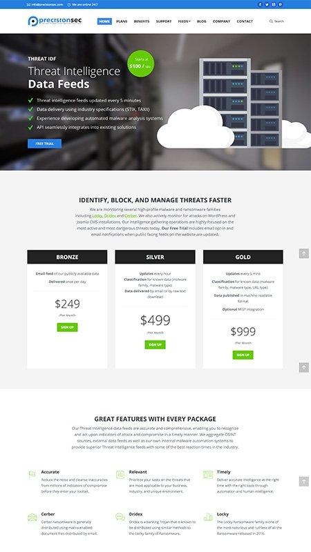 precisionsec, optimizedwebmedia, client, website, wordpress 1