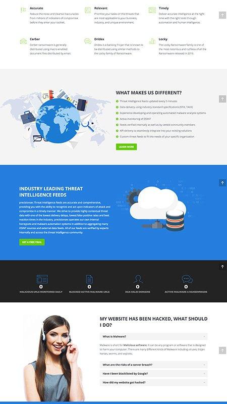precisionsec, optimizedwebmedia, client, website, wordpress 2