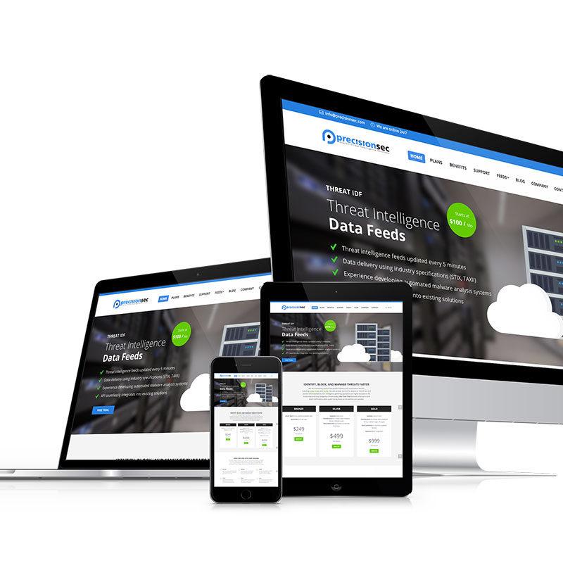 precisionsec, optimizedwebmedia, client, website, wordpress
