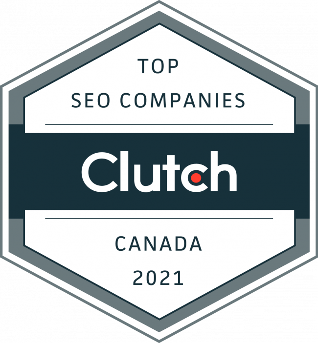 Clutch Award-Top SEO Companies-Canada-2021-Optimized Webmedia Marketing